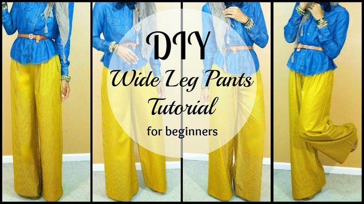 DIY | How to Sew Wide leg Pants | For Beginners (+playlist)