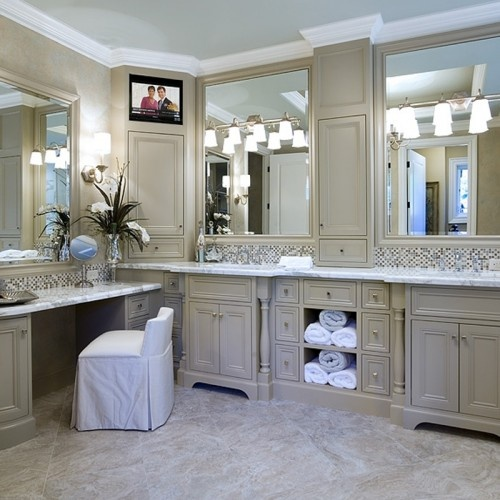 """envision the interior wall vanity @ 36"""" (as shown) & sink pushed as far to the right as we can. Exterior wall w/ drop down & knee space (as shown) but as far to the left as we can go"""
