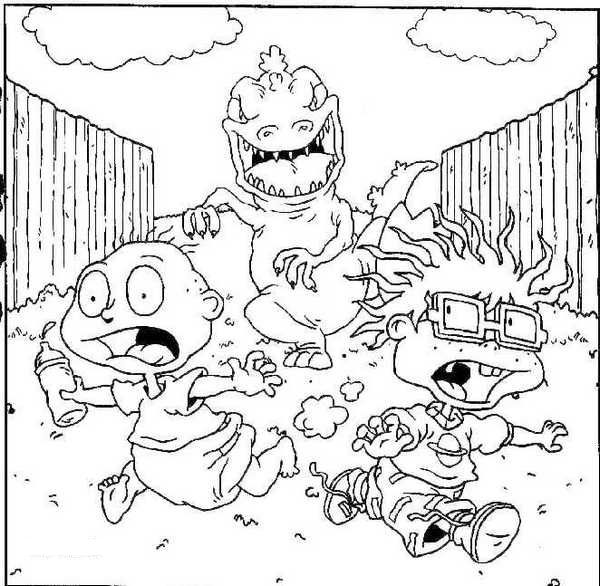 Rugrats Christmas Coloring Pages Pics