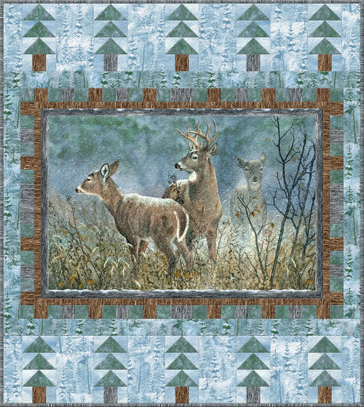 Winter Whispers Deer Free Quilt Pattern Quilting With