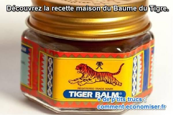 comment fabriquer soi même baume du tigre naturel