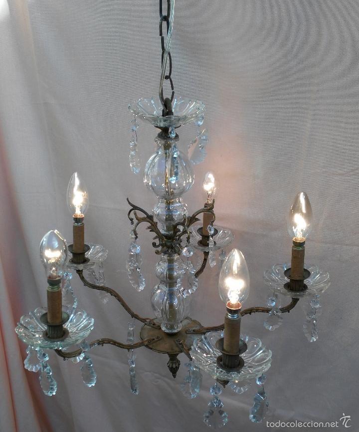 L mpara de techo 5 brazos n 3 vintage l mparas - Apliques y lamparas ...