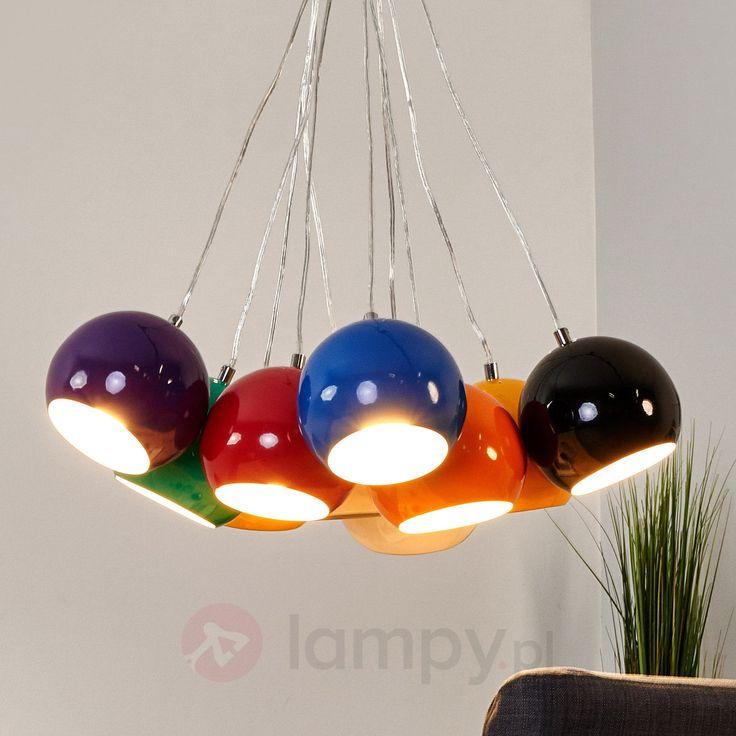 10-punktowa lampa wisząca z kolorowymi kloszami bezpieczne & wygodne zakupy w sklepie internetowym Lampy.pl.