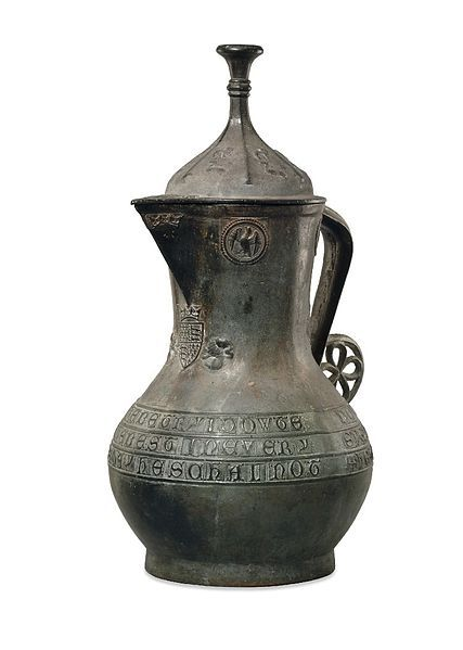 14th century medieval ewer looted from the Ashanti Empire in 1896 by British forces. The ewer was originally made for the court of Richard II. Currently housed at the British Museum. Historians are unsure how it came to reside with the Ashanti Empire in good condition after 500 years.