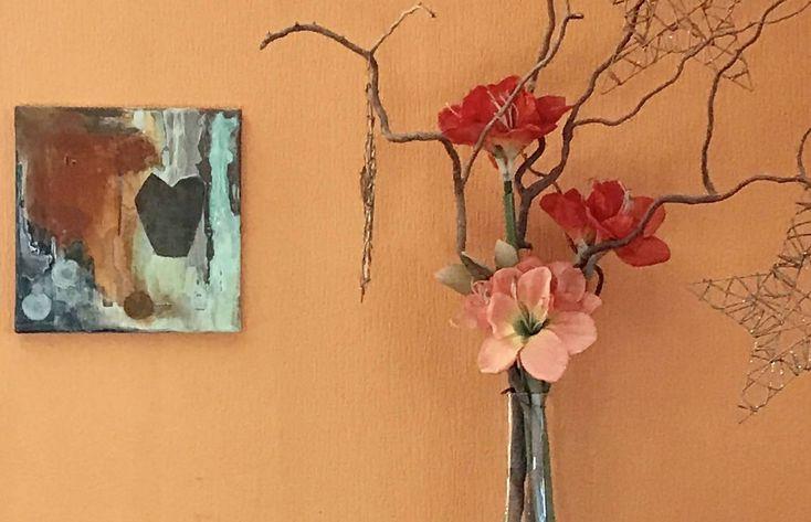 Kunst mit Rost, Leinwand 30 cm x 30 cm
