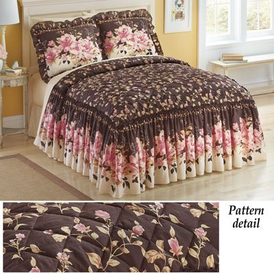 Carina Floral Rose Bedspread