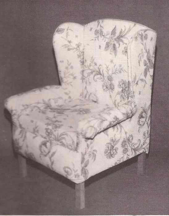 make your own doll size wing chair pattern and instructions barbie s home livingroom. Black Bedroom Furniture Sets. Home Design Ideas