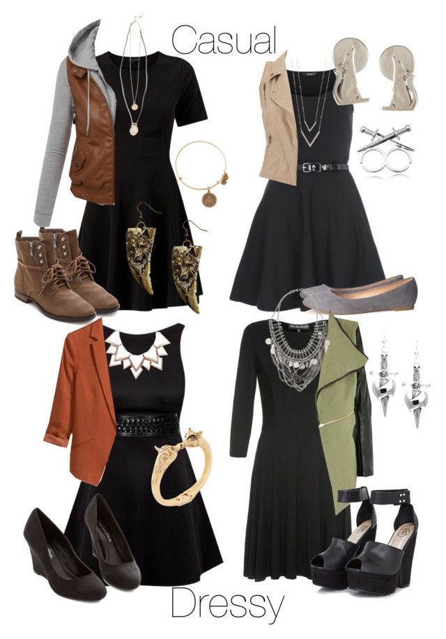 """Arya inspired birthday dinner outfits with a black skater dress"" by withfashionandblood ❤ liked on Polyvore featuring Mela Loves London, Sam Edelman, LE3NO, Full Tilt, Alex and Ani, Boohoo, Topshop, H&M, Atelier 61 and Missguided"