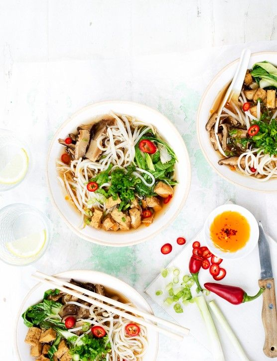 Vegan Ramen Recipe with Chilli and Tofu Nothing is more comforting than a warming bowl of ramen. This chilli tofu version is vegan and low-cal, plus it packs in loads of fresh flavours