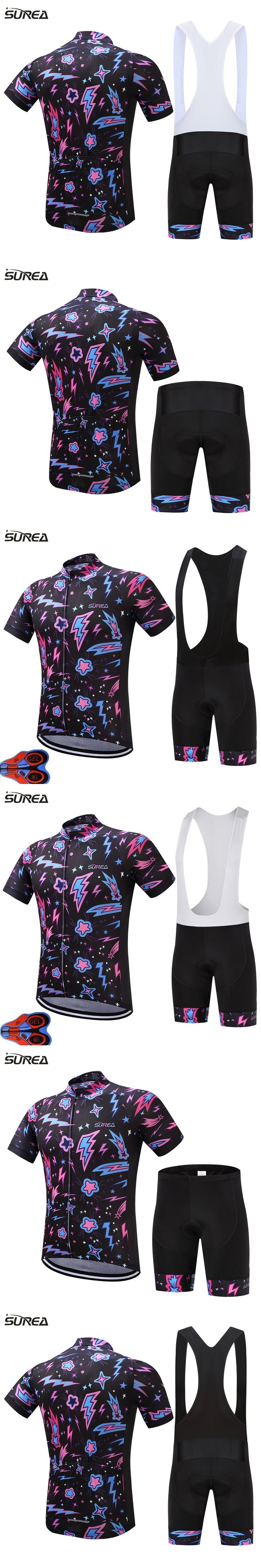 2017 Summer style Short cycling jersey sets men short Ropa Ciclismo Maillot Ciclismo sport clothing 9D gel pad mtb clothing bike