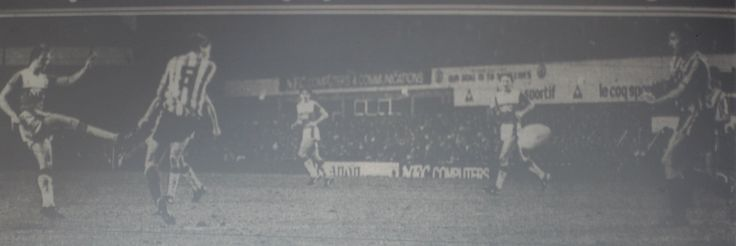 5 January 1986 Gary Stevens rockets in a 25 yard drive to score the only goal of the game during an FA Cup tie with Exeter