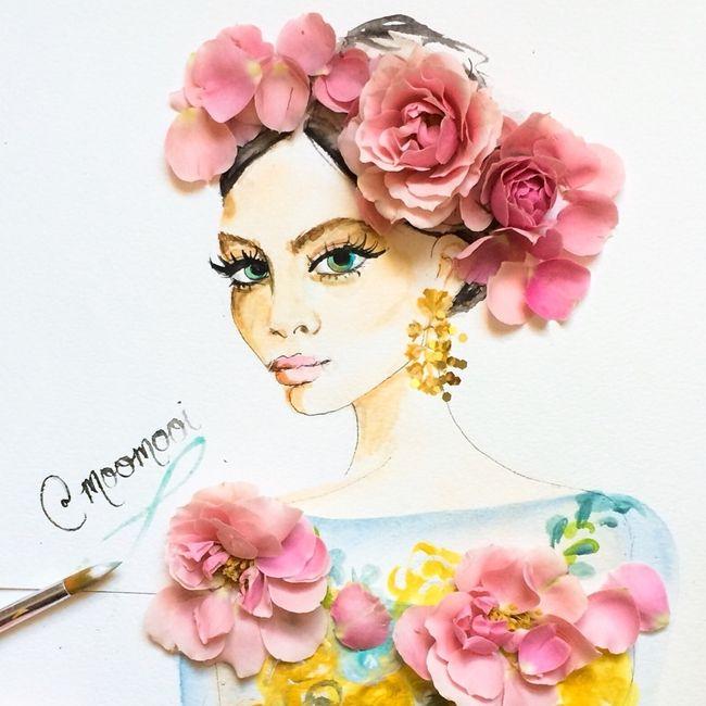 Çizimlerinde Sebzeleri ve Çiçekleri Kullanan Modacıdan 20 Olağanüstü İllüstrasyon Sanatlı Bi Blog 2