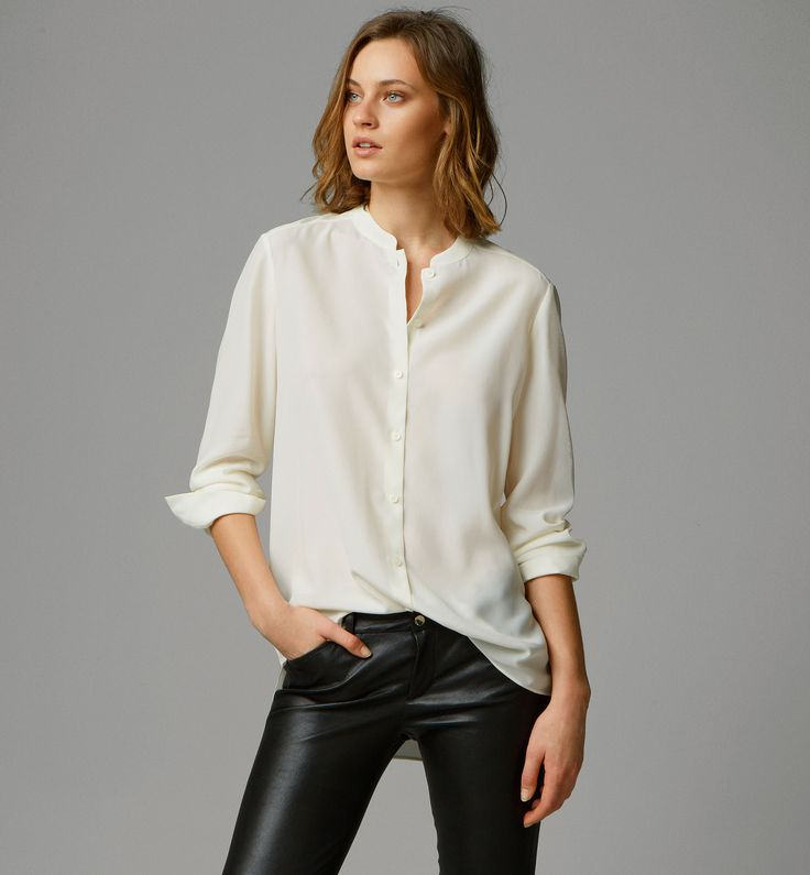 1000 images about mandari collar shirt on pinterest for Women s broadcloth shirts