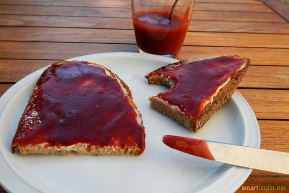 Fruchtaufstriche mit Carubenmehl - glutenfrei, zuckerfrei und vegan