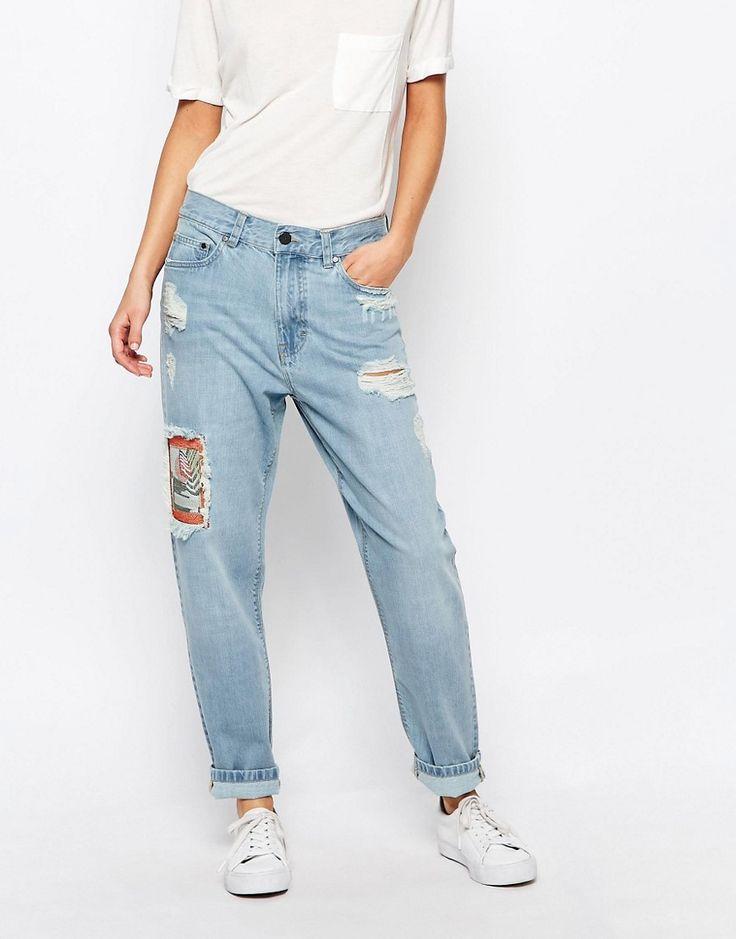 Изображение 1 из Рваные джинсы бойфренда с заплатками Waven Aki