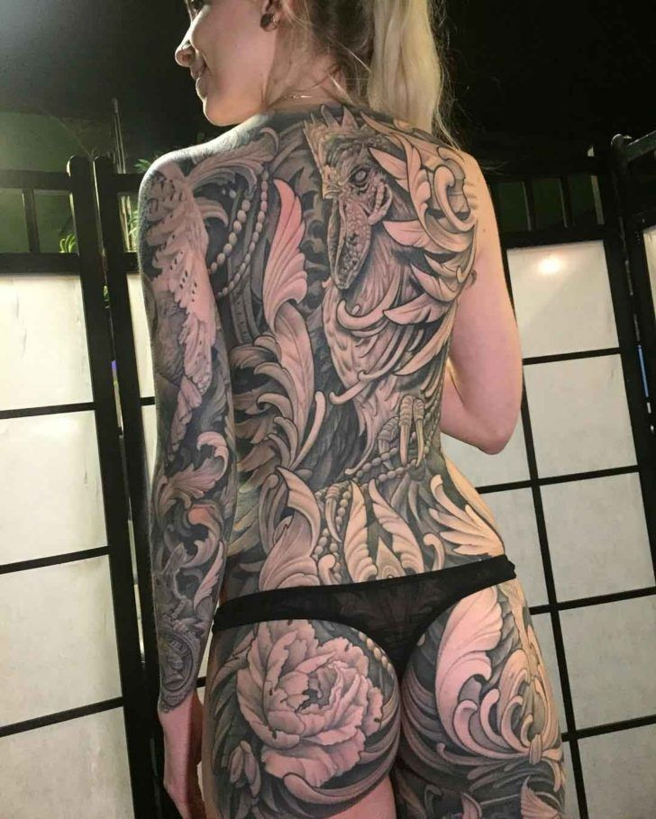 Full Back Tattoo For Girl Tatoo Art Tattoos Back Tattoos Girl