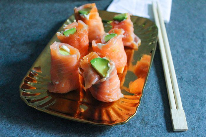 Finto sushi di salmone ricetta