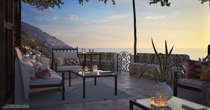 Luksusowy apartament z tarasem, z którego rozciąga się widok na Wybrzeże Amalfi we Włoszech https://www.homify.pl/katalogi-inspiracji/8421/piec-roznych-krajow-piec-roznych-tarasow-z-widokiem
