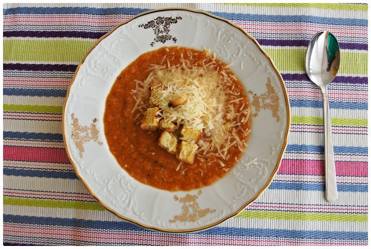 Pradobroty: Lilková polévka s parmezánem a krutony