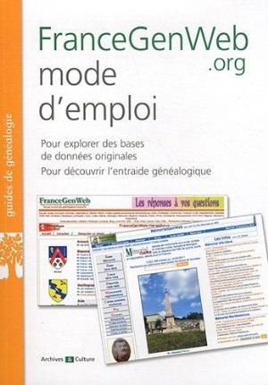 FranceGenWeb mode d'emploi:Amazon.fr:Livres