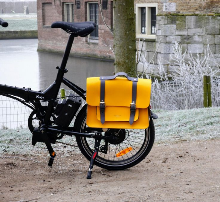 fietstassen van Hill & Ellis passen eenvoudig op een vouwfiets.