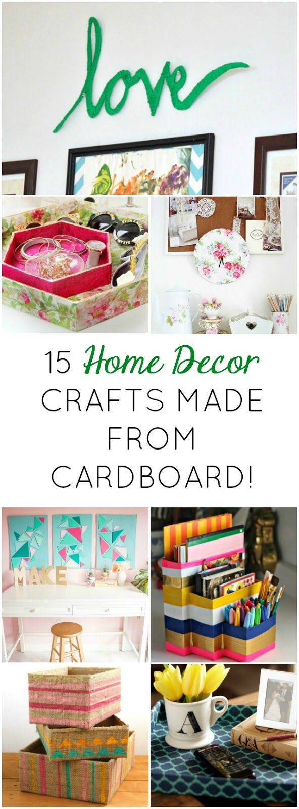 Love all these clever ideas for turning cardboard boxes into cool home decor!