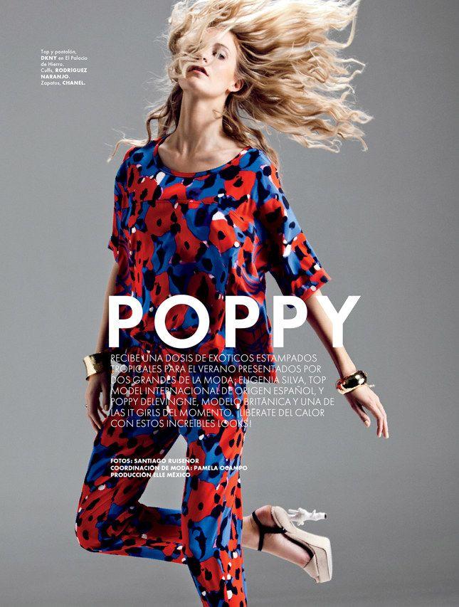Poppy Delevingne Elle Mexico July 2012