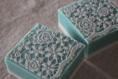 white lace soap