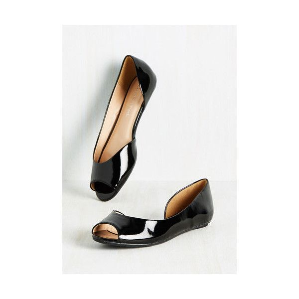 Minimal Tres Sleek Flat (125 BRL) ❤ liked on Polyvore featuring shoes, flats, ballet flat, black, flat, peep-toe flats, black flat shoes, ballet shoes, flat pumps and d orsay flats