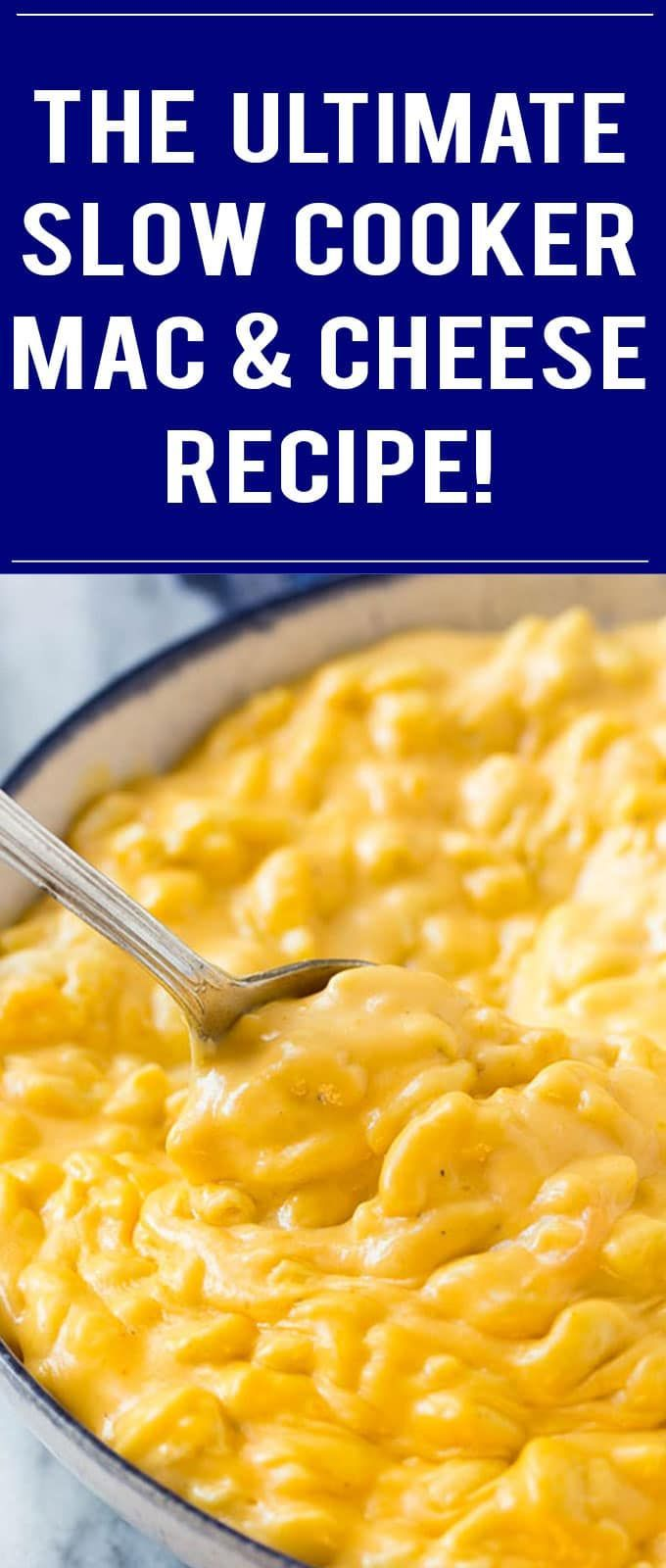 Slow Cooker Mac and Cheese Recipe | Easy Mac and Cheese | Macaroni and Cheese | Crock Pot Mac and Cheese