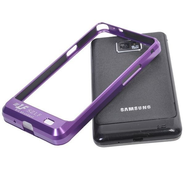 Samsung Galaxy S2 Alumiininen Suojakehys (Violetti)