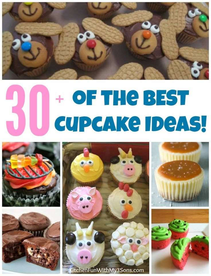 Over 30 of the BEST Cupcake Ideas & Recipes...everything from Kids party cupcakes to cream filled cupcakes...we've got your covered!