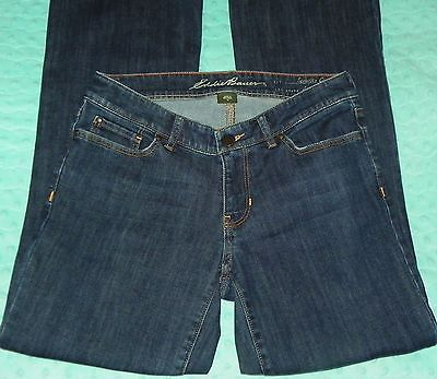 Eddie Bauer Slightly Curvy Slightly Flared Denim Blue Jeans Womens Size 4