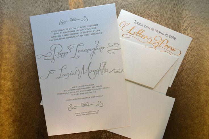 Partecipazione di nozze letter press