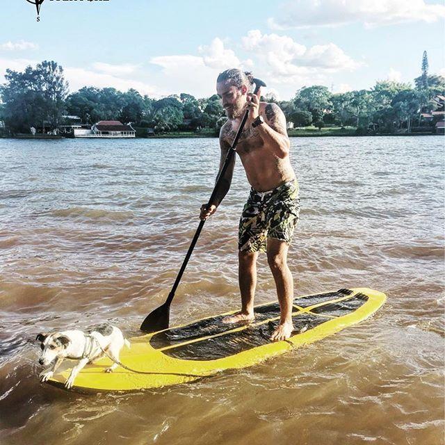 Verão, uma prancha de Stand Up e um dog aventureiro: diversão garantida! :D  #aventure #dog #standup #verao #summer #adventure #insta #iphone6s #iphone #perfectday #lagoigapó #londrinando #londrina #profissaoaventura #surf