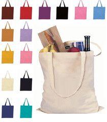 Cotton Reusable Wholesale Tote Bags Available Colors
