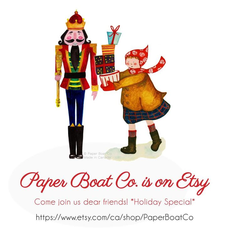 WELCOME TO OUR ETSY SHOP! #Etsy #Papergoods #Official #startup Check our Holiday Specials.  https://www.etsy.com/ca/shop/PaperBoatCo