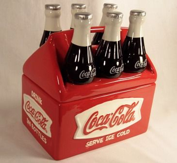 New - ceramic cookie jar is fashioned after a vintage six pack of Coke
