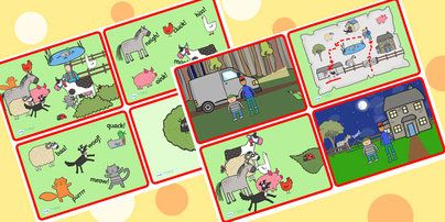 Preview: What the Ladybird Heard Story Sequencing Cards