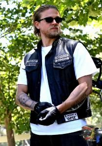 GANTS COURTS CUIR SONS OF ANARCHY - CHURCHILL