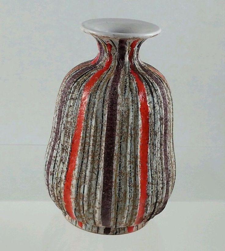 About the Designer RAYMOR   http://markhillpublishing.com/who-what-was-raymor/ Raymor Vase Bitossi Ceramic Vintage Mid Century Italian Art Pottery ITALY 907