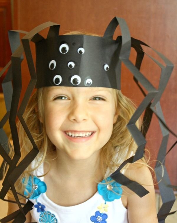 Halloween Kids Crafts - Spider Headband