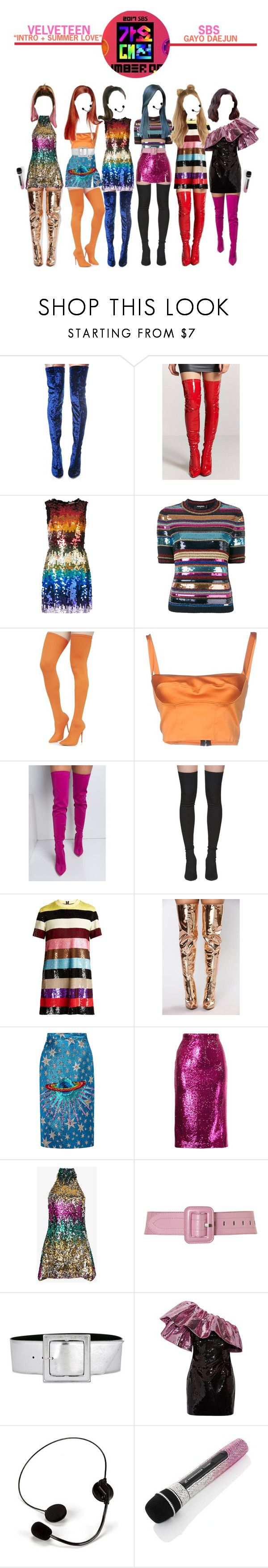 """""""«VELVETEEN- SBS GAYO DAEJUN»"""" by cw-entertainment ❤ liked on Polyvore featuring Cape Robbin, Forever 21, Alice + Olivia, Dsquared2, Shoe Republic LA, Simona Corsellini, Yeezy by Kanye West, Ashish, Gucci and G.V.G.V."""