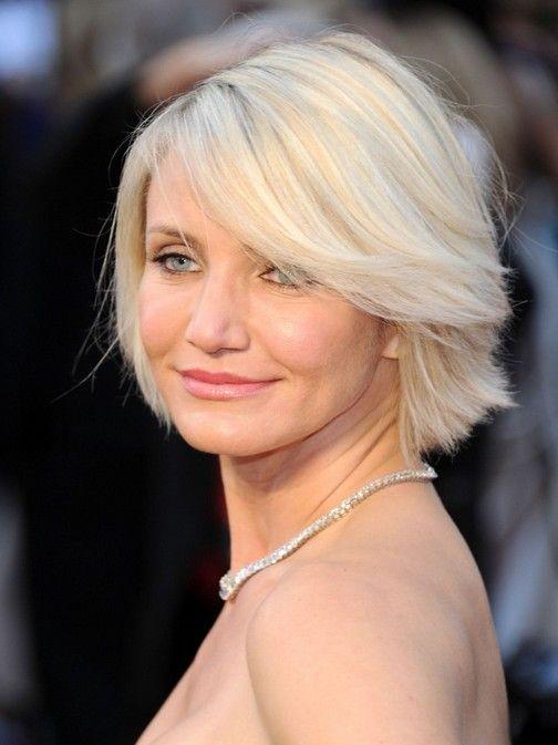Tagli di capelli corti per le donne anziane: Cameron Diaz Bob Acconciature