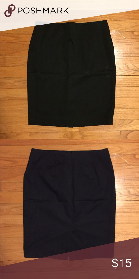 Black Pencil Skirt from Ann Taylor Black form fitting, petite pencil skirt. Hugs curves and is very flattering. Worn a handful of times and in good condition. She'll: 56% cotton, 44% elasterell; Lining: 94% polyester, 6% spandex.  *Please be aware it's coming from a house with a cat in case you're crazy allergic and is DRY CLEAN ONLY.* Ann Taylor Skirts Pencil