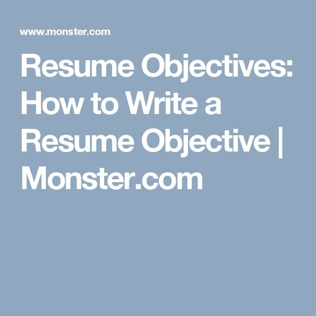 Best 25+ Good resume objectives ideas on Pinterest Career - how to write an objective