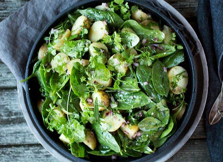 Potetsalat med spinat