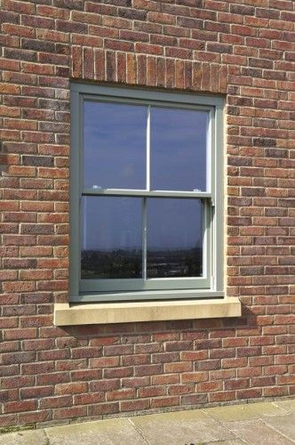 Tent Grey finished Hidden Spring Sash Window