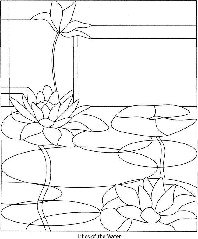 Contemporary Designs Stained Glass Pattern Book  PATTERN 1 Welcome to Dover Publications