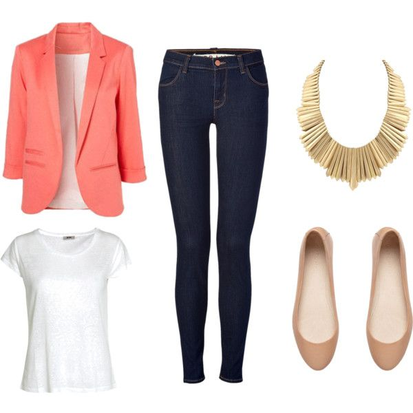 Best 25+ Coral Blazer Outfits Ideas On Pinterest